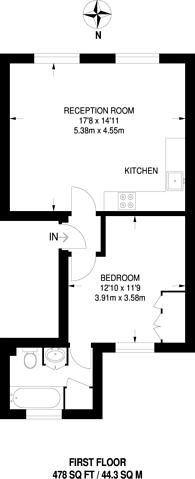 Large floorplan for Elgin Crescent, Notting Hill, W11