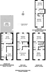 Large floorplan for Chamberlayne Avenue, Preston, HA9