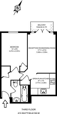Large floorplan for Percy Circus, Islington, WC1X