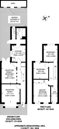 Large floorplan for Fulbourne Road, Walthamstow, E17