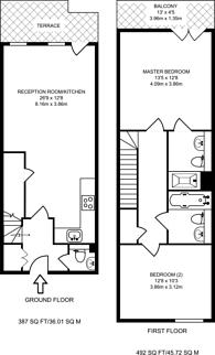 Large floorplan for Parkside Court, Royal Docks, E16