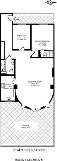 Large floorplan for Highbury Place, Highbury, N5