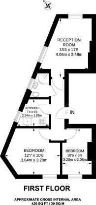 Large floorplan for Lancaster Road, New Barnet, EN4