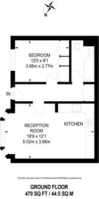 Large floorplan for Althorp Road, Bellevue Village, SW17