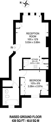 Large floorplan for Linden Gardens, Chiswick, W4