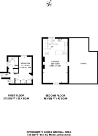 Large floorplan for Honor Oak Road, Forest Hill, SE23