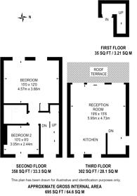 Large floorplan for Queenstown Road, Battersea Park, SW8