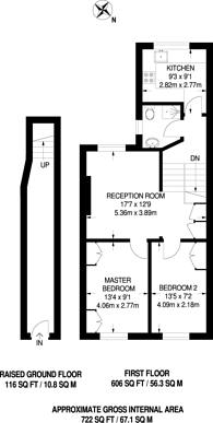 Large floorplan for Ashmore Road, Maida Hill, W9