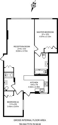 Large floorplan for Albion Gate, Hyde Park Estate, W2