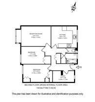 Large floorplan for Henderson Drive, St John's Wood, NW8