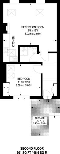 Large floorplan for Bridge Road, Hampton Court, KT8