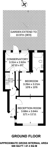 Large floorplan for Lakeside Crescent, Cockfosters, EN4