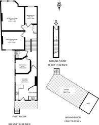 Large floorplan for Oakhill Road, Putney, SW15