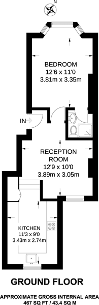 Large floorplan for Anselm Road, West Brompton, SW6