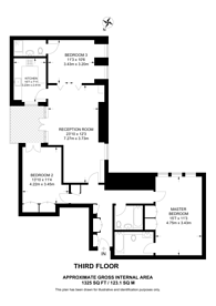 Large floorplan for Curzon Street, Mayfair, W1J