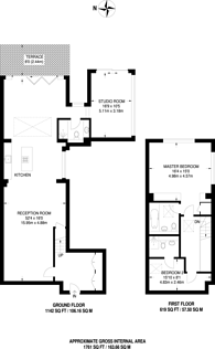 Large floorplan for Wimbledon Park Side, Wimbledon Common, SW19