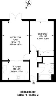 Large floorplan for Kent House Road, Sydenham, SE26