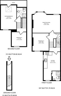Large floorplan for Furness Road, Sands End, SW6