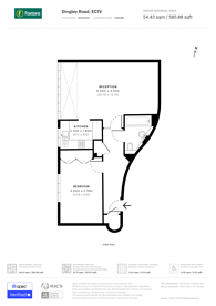 Large floorplan for City road, Islington, EC1V