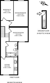 Large floorplan for Reginald Road, Stratford, E7