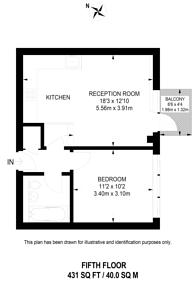Large floorplan for Calderwood Street, Woolwich, SE18