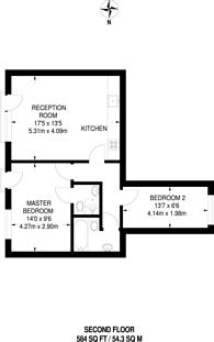 Large floorplan for Vallance Road, Tower Hamlets, E1