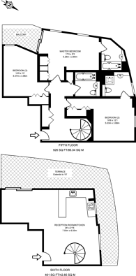 Large floorplan for Basin Approach, Limehouse, E14