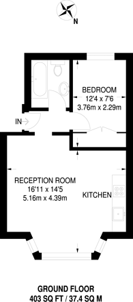 Large floorplan for Palmerston Crescent, Palmers Green, N13