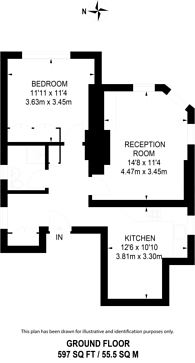 Large floorplan for Gloucester Road, South Kensington, SW7