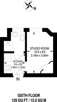 Large floorplan for Du Cane Court, Balham, SW17