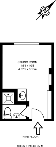 Large floorplan for The Strand, West End, WC2R