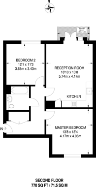 Large floorplan for Vermilion, Canning Town, E16