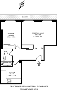 Large floorplan for Gloucester Place, Marylebone, W1U