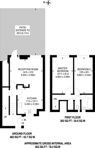 Large floorplan for Maiden Lane, Camden, NW1