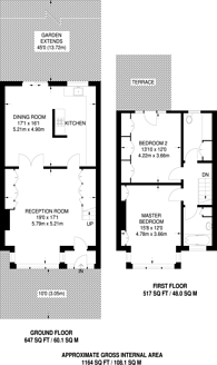 Large floorplan for Biddestone Road, Holloway, N7