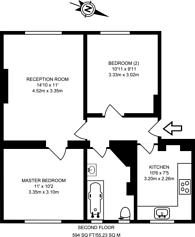 Large floorplan for Wellington Way, Bow, E3