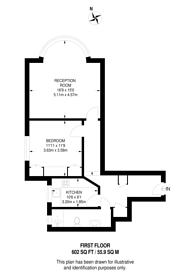 Large floorplan for North Common Road, Ealing Broadway, W5