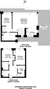Large floorplan for Amberley Waterfront, Little Venice, W9