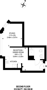 Large floorplan for Peterborough Road, Harrow on the Hill, HA1