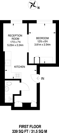 Large floorplan for Bowman Mews, Holloway, N7