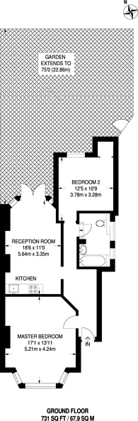Large floorplan for Arlow Road, Winchmore Hill, Winchmore Hill, N21