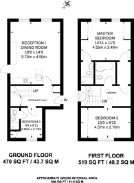 Large floorplan for Kingston Hill, Kingston Hill, KT2