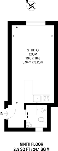 Large floorplan for Woburn Place, Bloomsbury, WC1H