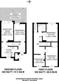 Large floorplan for Hazelhurst Road, Summerstown, SW17
