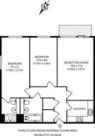 Large floorplan for Regency Apartments, Pimlico, SW1P