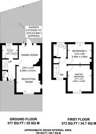 Large floorplan for Coleridge Walk, Hampstead Garden Suburb, NW11