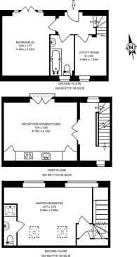 Large floorplan for Chiswick High Road, Gunnersbury, W4