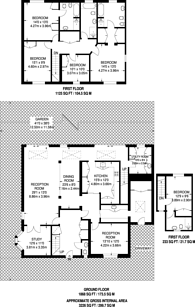 Large floorplan for Wyatt Drive, Castelnau, SW13