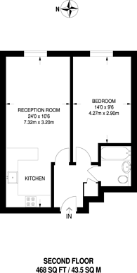 Large floorplan for Wallace Court, Balham, SW17