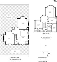 Large floorplan for Grange Gardens, Pinner, HA5